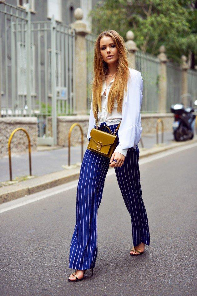 Шире шаг: 16 стильных примеров, как носить самые модные брюки сезона
