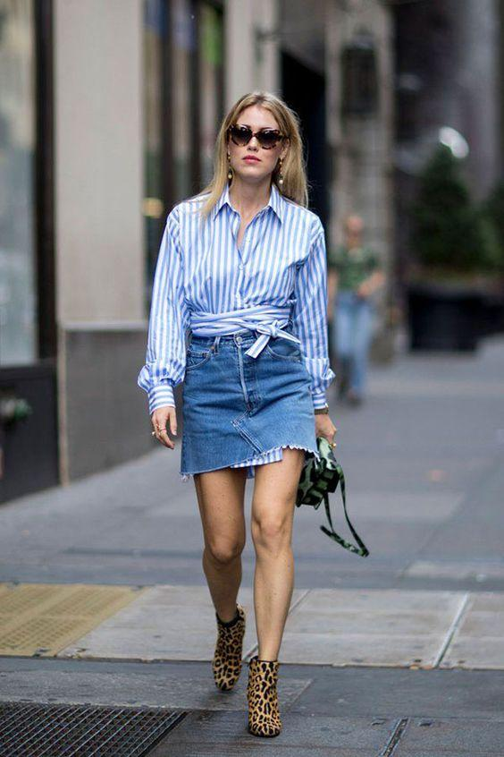 12 эффектных образов с джинсовой юбкой для самых дерзких (в любом возрасте)