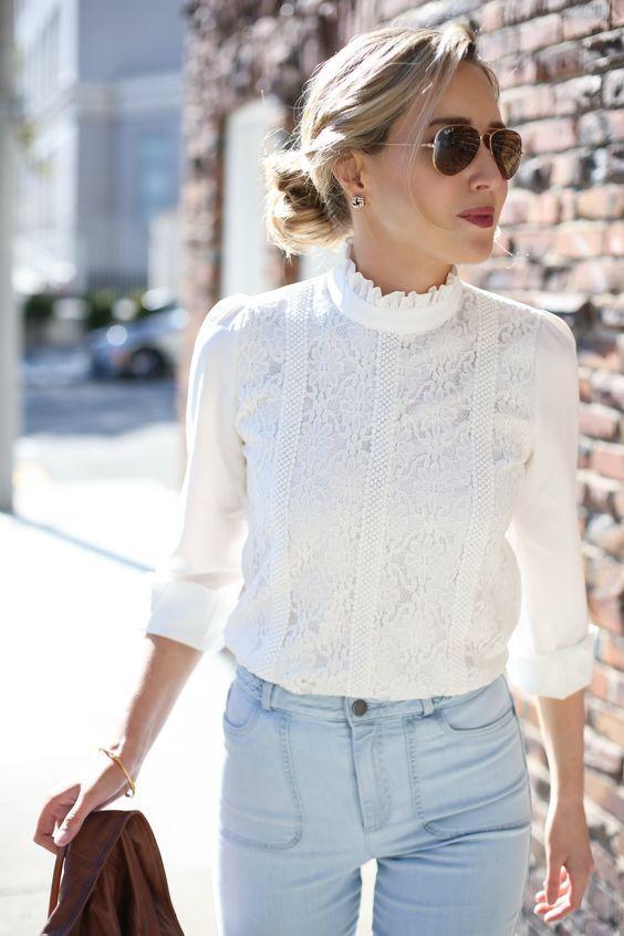 8 нескучных образов с белой блузой, которые выведут ваш стиль на новый уровень