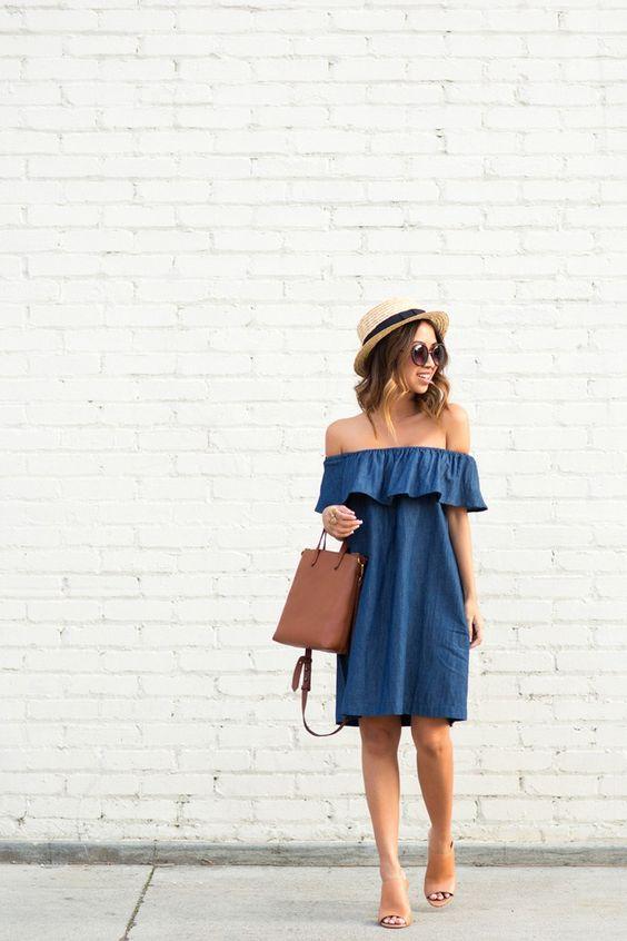 Как придать новую жизнь старому тренду: 10 стильных идей с джинсовым платьем