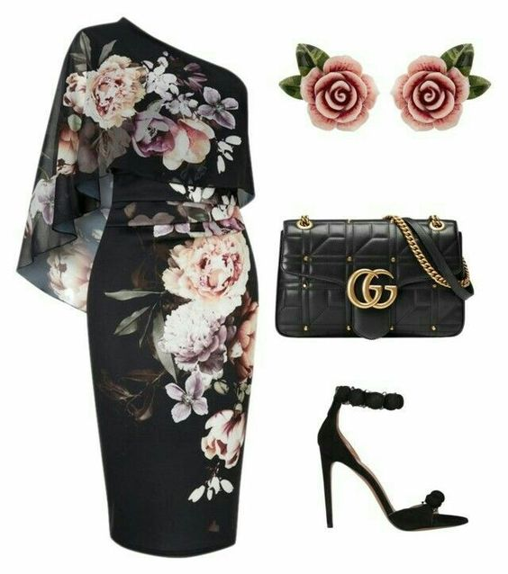 Как носить платье с цветочным принтом и не выглядеть старомодной: 6 примеров