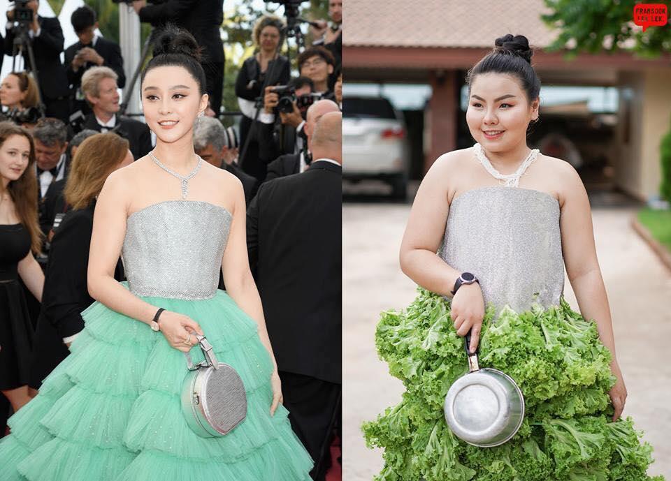 Эта девушка бесподобно копирует наряды звезд с красной дорожки. И все с помощью еды!