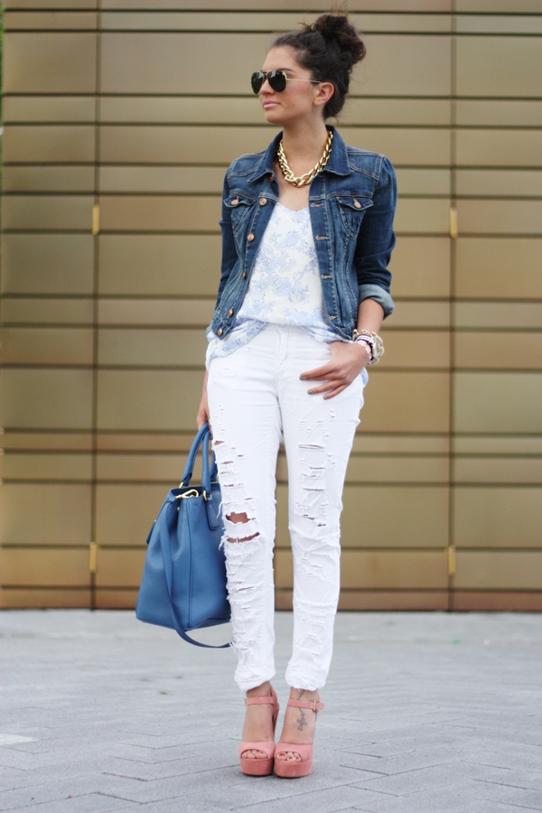 11 модных доказательств, что белый деним – это стильно, и его нужно носить