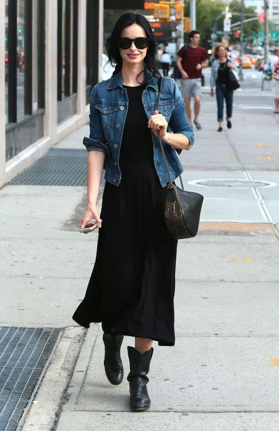 4 элегантных способа носить черное платье на каждый день