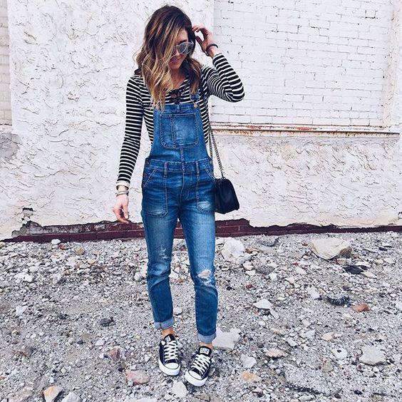 9 примеров, как женщина 21 века носит комбинезон и выглядит изумительно