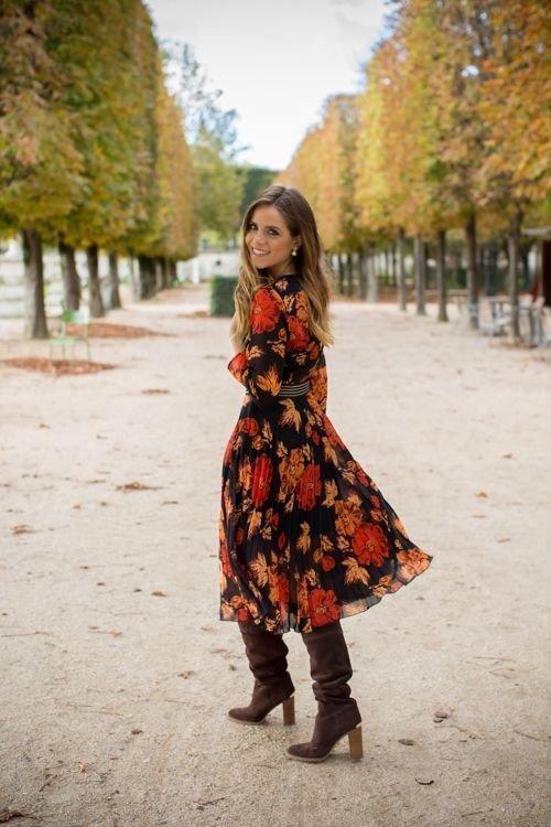 17 образов с платьем в цветок на все случаи жизни