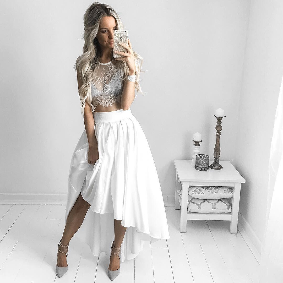 Кружевные моменты: 7 нарядов в белом только для романтичных натур