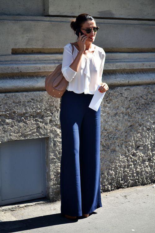 В стиле Марлен Дитрих: 8 эффектных образов с широкими брюками