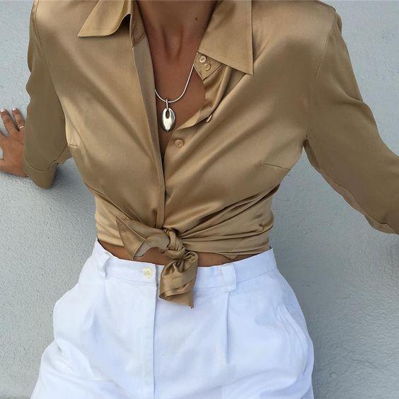 11 идей, которые позволят вам надеть атласную блузу куда угодно