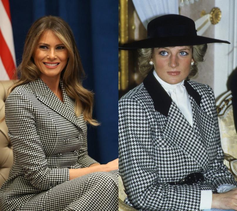 Стиль на все времена: 7 общих деталей в стиле Мелании Трамп и принцессы Дианы
