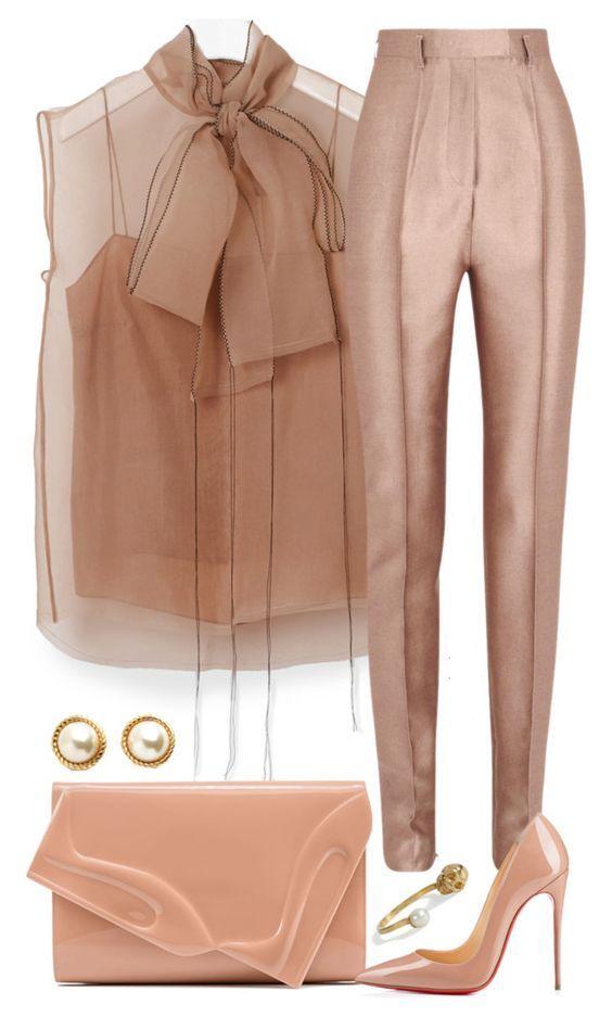50 оттенков бежевого! Самые элегантные образы с брюками на осень