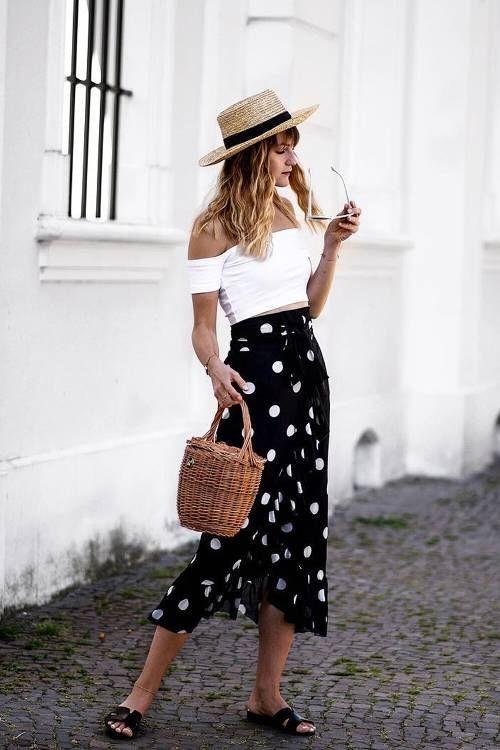 Эти 3 совета помогут вам подобрать идеальную юбку в горошек