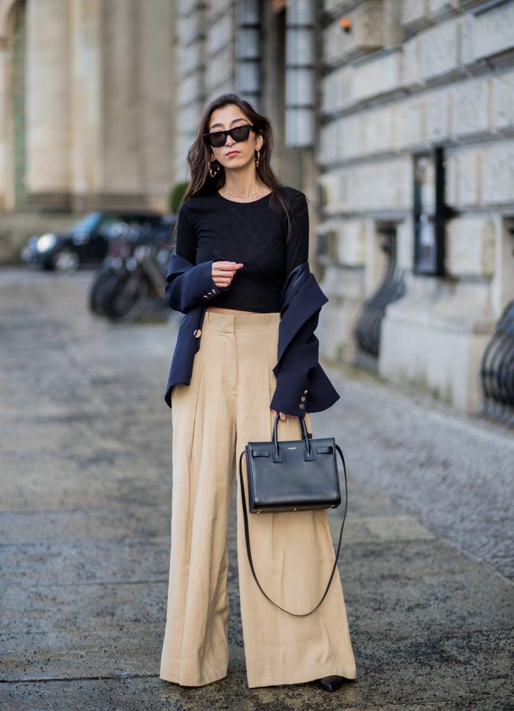 11 образов, которые научат вас носить широкие брюки в любую погоду