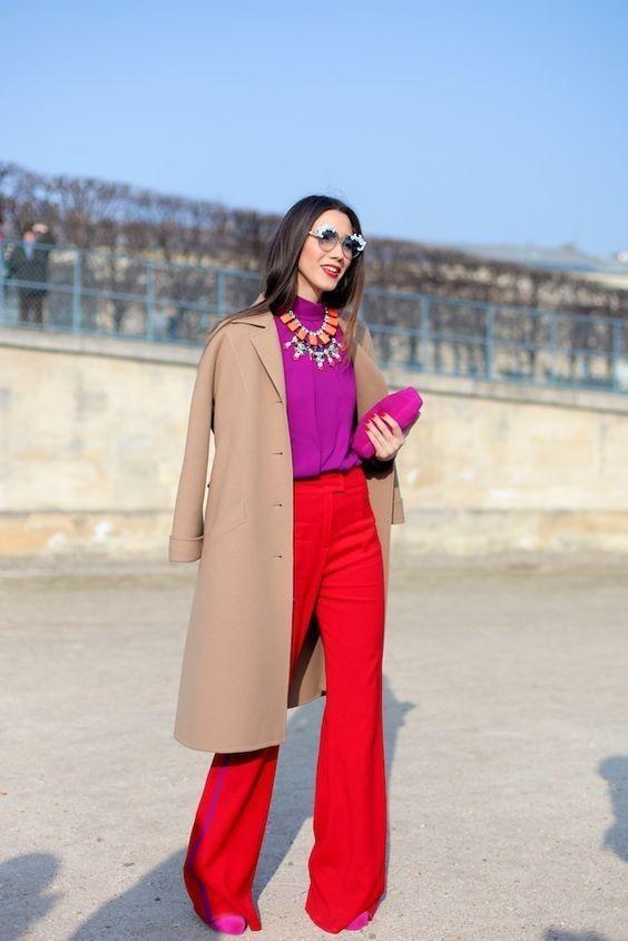 8 идеальных сочетаний с красными брюками, которые точно придутся вам по вкусу