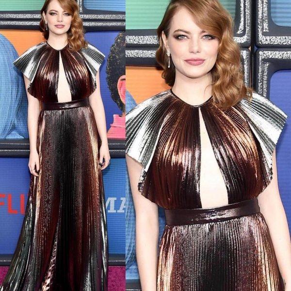 Трендов много бывает: фанаты осудили ужасный образ Эммы Стоун в платье Givenchy