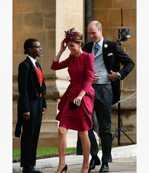 Фанаты в восторге от яркого платья Кейт Миддлтон на свадьбе принцессы Евгении
