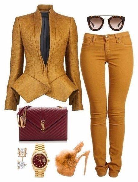 Осеннее настроение: 10 стильных образов в горчичном цвете