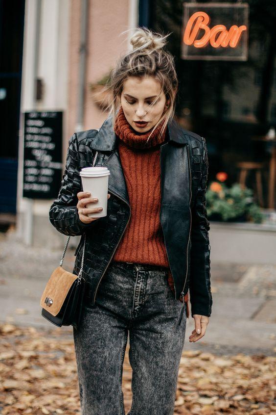 Как носить кожаную куртку этой осенью и выделяться: 5 модных подсказок