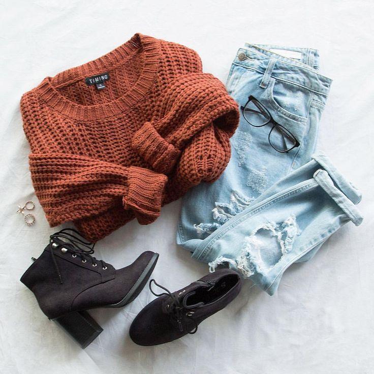 Свитер + джинсы = идеальная пара: 7 стильных доказательств