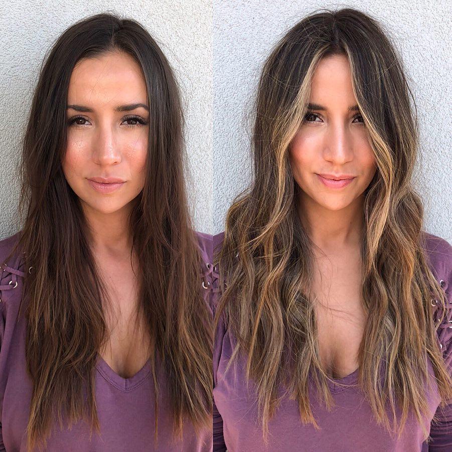 7 ярких примеров, как обычное мелирование меняет лицо