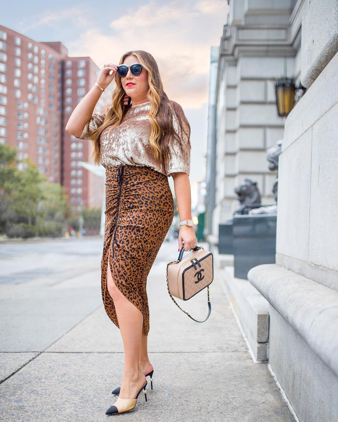 Как носить леопардовый принт женщинам с формами: 10 удачных примеров