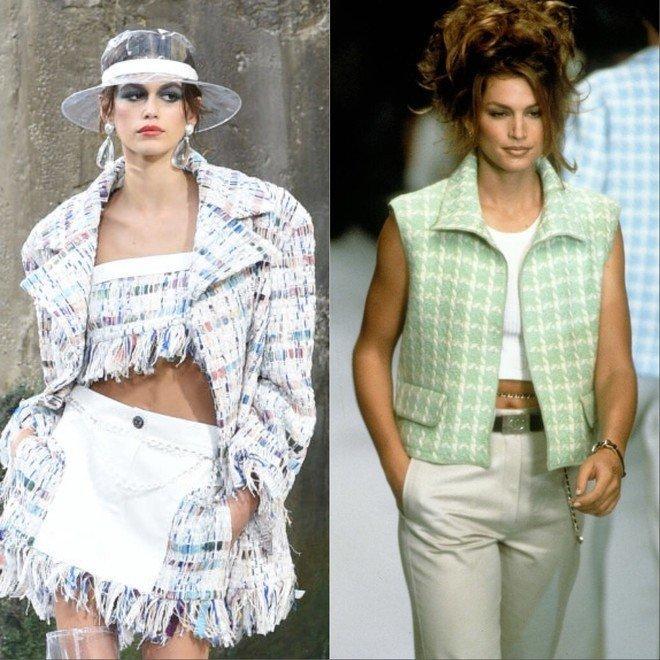Кайя Гербер VS Синди Кроуфорд 20 лет назад — кто выглядит лучше? (8 модных выходов)