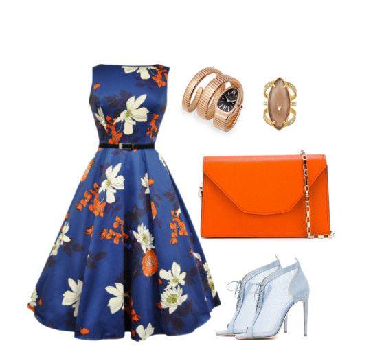 Идеальная пара: 8 образов с оранжевым и синим, в которых вас точно запомнят