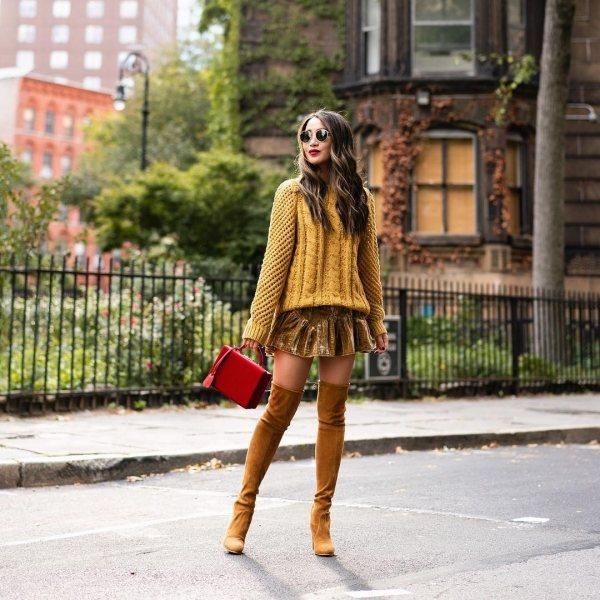 Осень цвета горчицы: 5 идей, с чем носить свитера, чтобы выглядеть шикарно