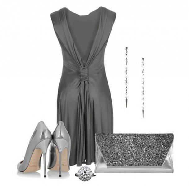 Платье Серого Цвета С Чем Носить